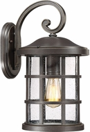 Quoizel CSE8410PN Crusade Palladian Bronze Outdoor 10  Wall Light Sconce
