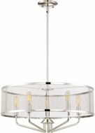 Quoizel CTS2822PK Cityscape Contemporary Polished Nickel Drum Pendant Lighting Fixture