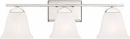 Quoizel CTW8603PK Crestwood Modern Polished Nickel 3-Light Bathroom Lighting Fixture
