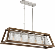 Quoizel CTY542BN Courtyard Modern Brushed Nickel Kitchen Island Light