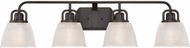 Quoizel DBN8604PN Dublin Palladian Bronze 4-Light Bath Lighting Fixture