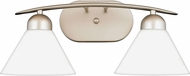 Quoizel DI8502ES Demitri Modern Empire Silver 2-Light Bathroom Light Fixture