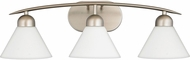 Quoizel DI8503ES Demitri Contemporary Empire Silver 3-Light Bathroom Vanity Lighting