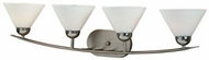 Quoizel DI8504ES Demitri Modern Empire Silver 4-Light Bathroom Vanity Light