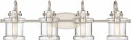 Quoizel DNY8604BN Danbury Contemporary Brushed Nickel 4-Light Bathroom Lighting Fixture