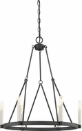 Quoizel DOR5006MB Doran Contemporary Mottled Black Mini Lighting Chandelier
