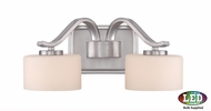 Quoizel DVN8602BNLED Devlin Modern Brushed Nickel LED 2-Light Bathroom Light