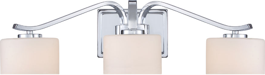 Chrome Bathroom Light quoizel dvn8603c devlin polished chrome halogen 3-light bathroom