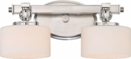 Quoizel DW8602BN Downtown Brushed Nickel Xenon 2-Light Bathroom Light Fixture