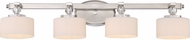 Quoizel DW8604BN Downtown Brushed Nickel Xenon 4-Light Vanity Lighting Fixture