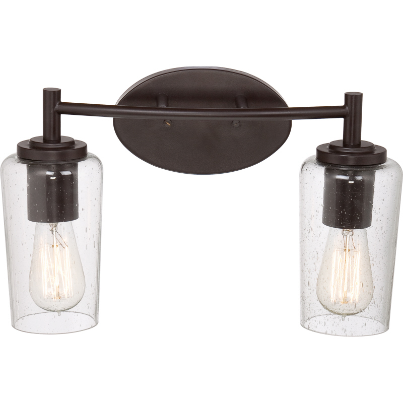 "Bathroom Vanity Lights In Bronze quoizel eds8602wt edison vintage western bronze finish 16"" wide 2"