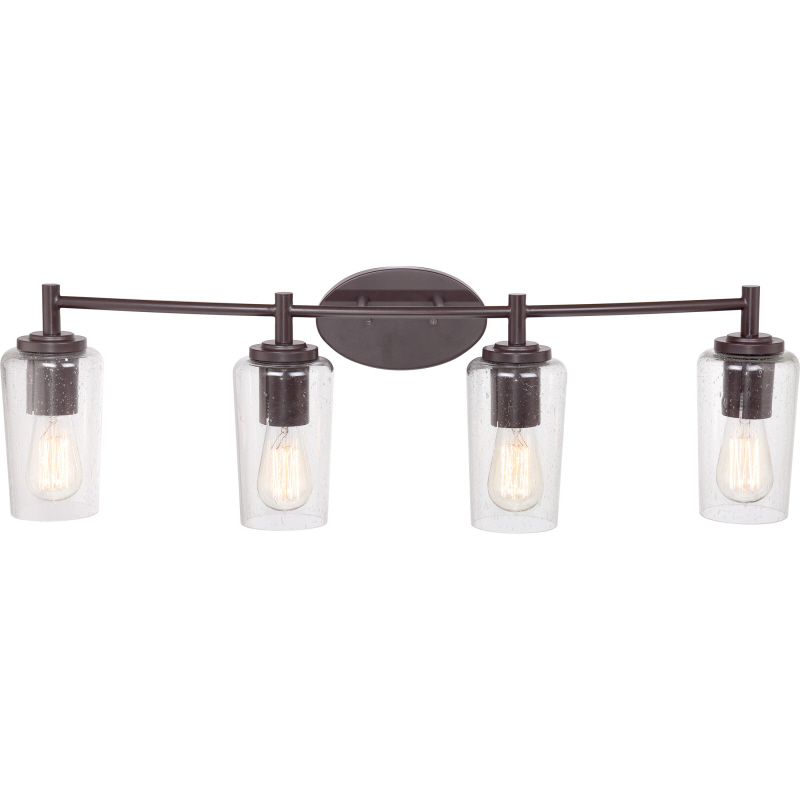 5 Light Bathroom Vanity Light: Quoizel EDS8604WT Edison Vintage Western Bronze Finish 32