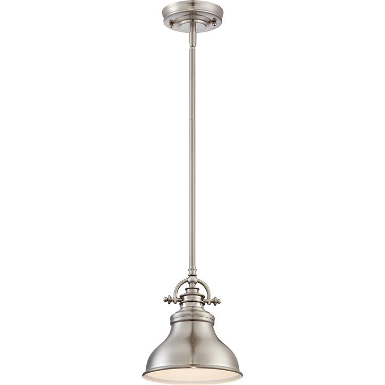 Quoizel Emery Retro Brushed Nickel Finish Tall Mini