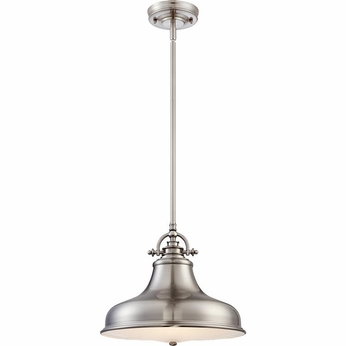 Quoizel ER1814BN Emery Vintage Brushed Nickel Finish 13.5  Wide Pendant Lighting Fixture