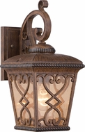 Quoizel FQ8407AWFL Fort Quinn Traditional Antique Brown Fluorescent Exterior Wall Mounted Lamp