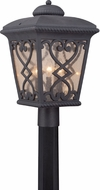 Quoizel FQ9011MK Fort Quinn Traditional Marcado Black Exterior Post Light