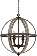 Quoizel FSN5206RK Fusion Contemporary Rustic Black 24.75  Drop Ceiling Lighting