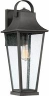 Quoizel GLV8408MB Galveston Mottled Black Outdoor 8.75  Wall Sconce Light