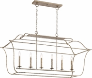 Quoizel GLY648CS Gallery Century Silver Leaf 48  Kitchen Island Lighting