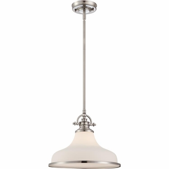 Quoizel GRT2814BN Grant Brushed Nickel Finish 13.5  Wide Hanging Pendant Light