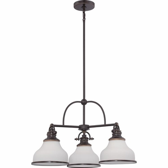Quoizel GRT5103PN Grant Palladian Bronze Finish 15  Tall Mini Ceiling Chandelier