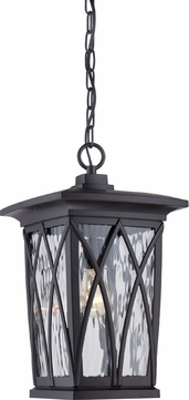 Quoizel GVR1910KFL Grover Traditional Mystic Black Fluorescent Exterior Lighting Pendant