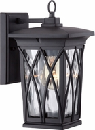 Quoizel GVR8406KFL Grover Traditional Mystic Black Fluorescent Exterior Wall Sconce Lighting