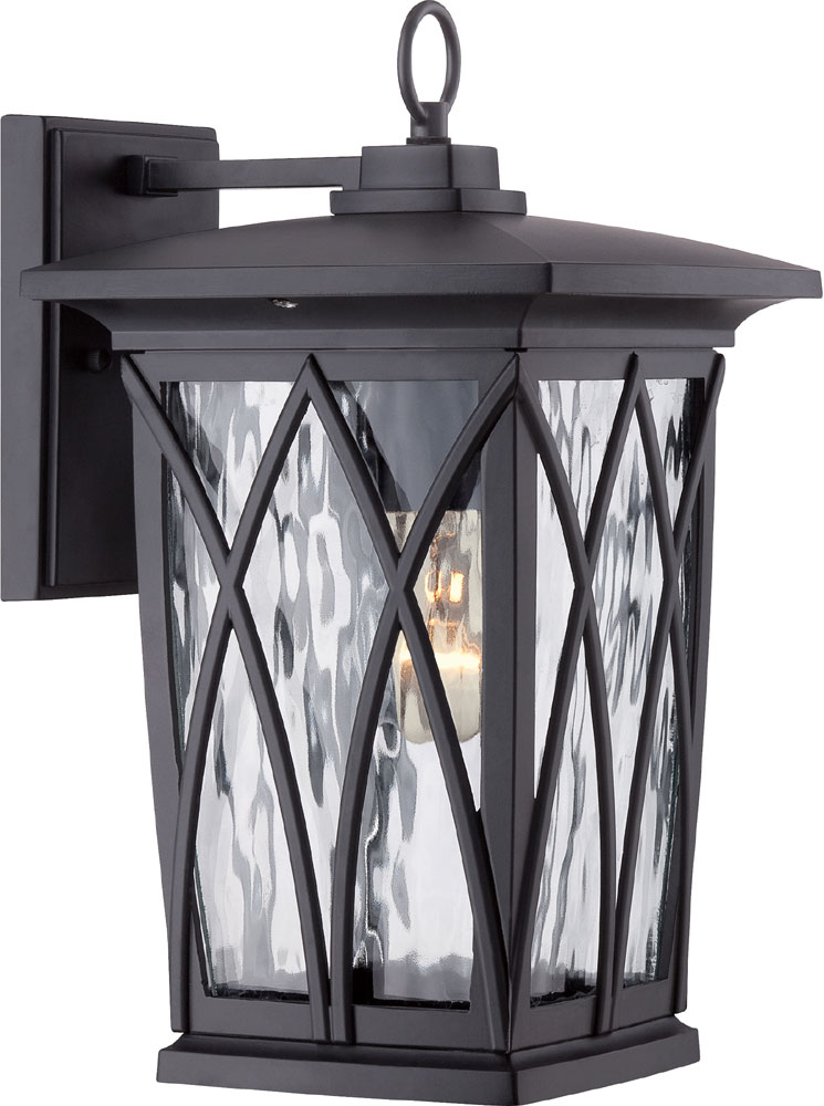 quoizel gvr8408k grover traditional mystic black outdoor wall light