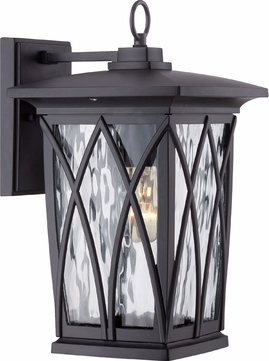 Quoizel GVR8408KFL Grover Traditional Mystic Black Fluorescent Exterior Lighting Wall Sconce