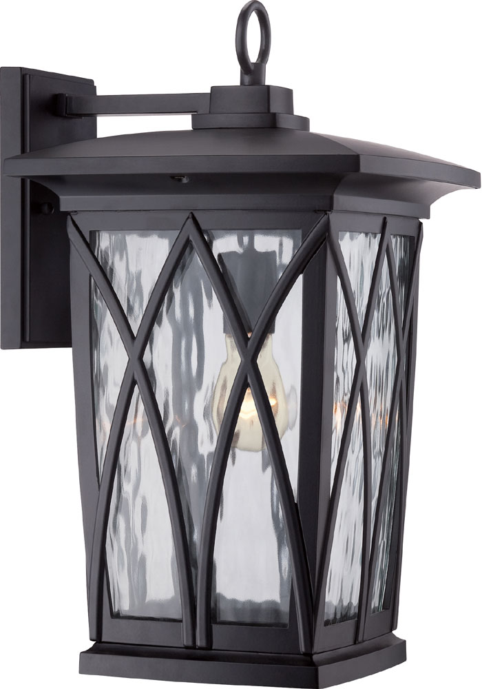 Quoizel gvr8410kfl grover traditional mystic black fluorescent exterior wall sconce lighting loading zoom