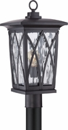 Quoizel GVR9010KFL Grover Traditional Mystic Black Fluorescent Exterior Post Light Fixture