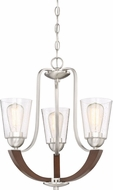 Quoizel HE5003BN Holbeck Contemporary Brushed Nickel Mini Lighting Chandelier