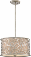 Quoizel JV2816OS Jarvis Old Silver Drum Hanging Light