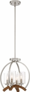 Quoizel KDN1714BN Kayden Modern Brushed Nickel Mini Chandelier Lamp