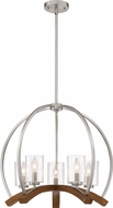 Quoizel KDN5005BN Kayden Contemporary Brushed Nickel Chandelier Light