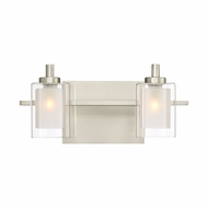 Quoizel KLT8602BNLED Kolt Contemporary Brushed Nickel LED 2-Light Bath Sconce
