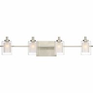 Quoizel KLT8604BNLED Kolt Contemporary Brushed Nickel LED 4-Light Vanity Lighting Fixture
