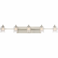 Quoizel KLT8605BNLED Kolt Modern Brushed Nickel LED 5-Light Bathroom Vanity Light Fixture