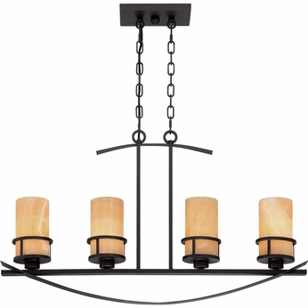 Quoizel KY433IB Kyle Wrought Iron Imperial Bronze Finish 18.5 Tall Kitchen Island Lighting