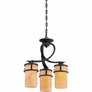 Quoizel KY5503IB Kyle Wrought Iron Imperial Bronze Finish 17 Wide Mini Chandelier Light