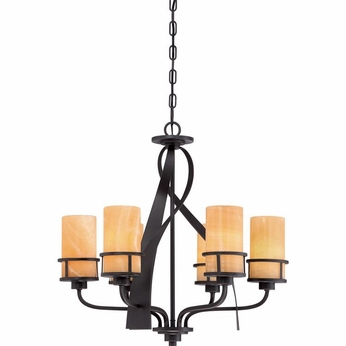 Quoizel KY5506IB Kyle Wrought Iron Imperial Bronze Finish 23  Tall Chandelier Lighting
