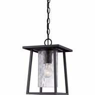 Quoizel LDG1909K Lodge Mystic Black Finish 9.5  Wide Outdoor Pendant Light