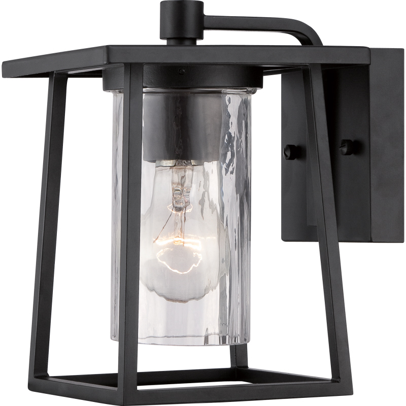 Quoizel ldg8406k lodge mystic black finish 9 tall exterior wall light sconce loading zoom
