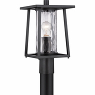 Quoizel LDG9009K Lodge Mystic Black Finish 9.5  Wide Outdoor Post Lamp