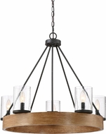 Quoizel LGE5005GK Lounge Contemporary Grey Ash Hanging Chandelier