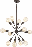 Quoizel LMT5012PN Limelight Contemporary Palladian Bronze 28  Lighting Chandelier