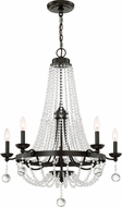 Quoizel LVY5005WT Livery Western Bronze Chandelier Light
