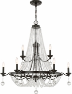 Quoizel LVY5009WT Livery Western Bronze Ceiling Chandelier