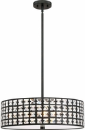 Quoizel LXY2822IB Luxury Imperial Bronze 22  Drum Drop Ceiling Lighting