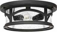 Quoizel MBH1613K Marblehead Mystic Black Outdoor Flush Ceiling Light Fixture
